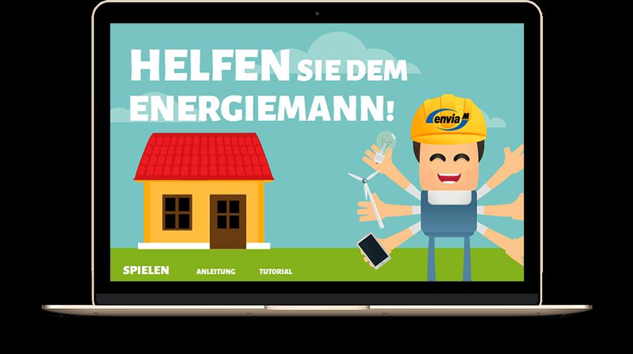 Onlinespiel Energiemann braucht Hilfe