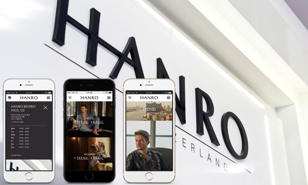 hanro-mobile-screens
