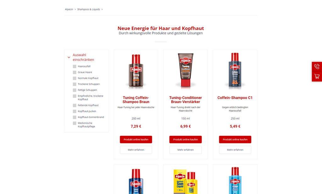Alpecin-Produktuebersicht
