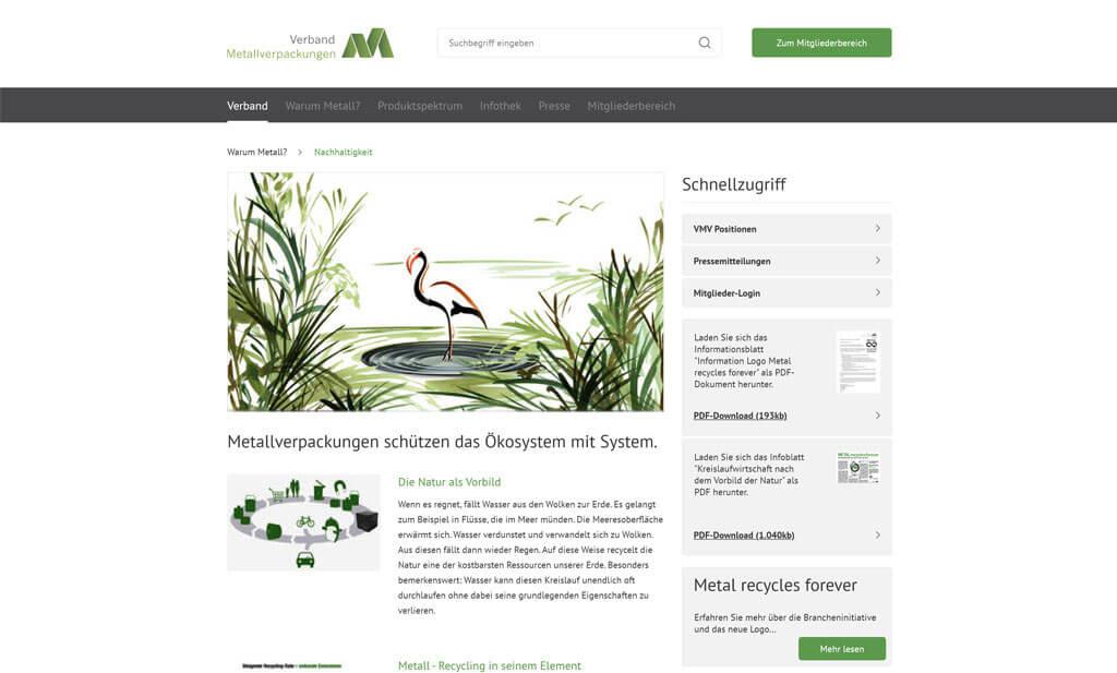 Corporate Website Metallverpackungen