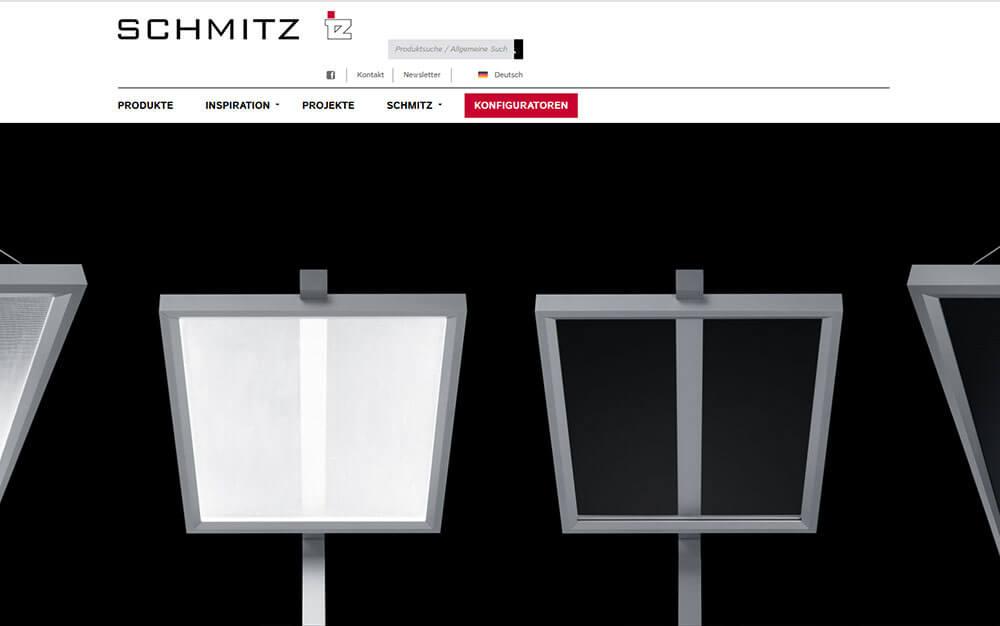 Corporate Website Schmitz Leuchten
