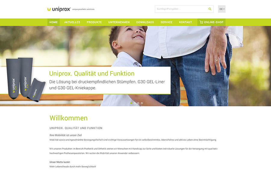Corporate Website Uniprox
